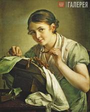 Tropinin Vasily. The Lace-Maker. 1823