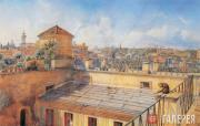 Ivanov Anton. View of Rome from the Roof of His House. 1854