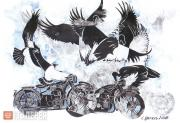 Tsigal Sergei. Birds and Motorcycles. 2008