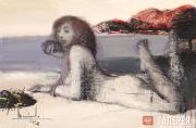 Ikonnikov Dmitry. Reclining Nude on the Beach. 2010