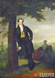 Tropinin Vasily. Portrait of Andrei Ivanovich Baryshnikov. 1829