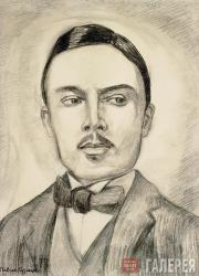 Kuznetsov Pavel. Portrait of Nikolai Sapunov, 1914–1915