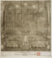 Штенглин И. № 45. Фейерверк и иллюминация, бывшие при Анненгофском дворце. 1744