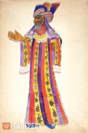 "Goncharova Natalia. Astrologer. Costume design for ""Le Coq d'Or"" (The Golden Coc"