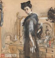 Serov Valentin. Portrait of Henrietta Girshman. 1906