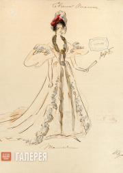 "Varvara Bushina. Sketch of a costume for Tchaikovsky's opera ""Eugene Onegin"""