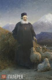 Aivazovskiy Ivan. Catholicos Mkrtich Khrimian in the Environs of Etchmiadzin. 18