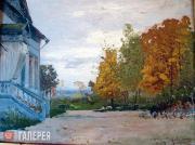 Levitan Isaaс. Babkino. The Kiselevs' House. 1885