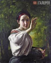 Tropinin Vasily. Lass with Plums. 1848