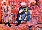 Gaydukevich Mikhail. Three Uzbeks. 1925