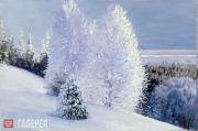Borisov Alexander. Winter Sunny Day on the Northern Dvina. 1910s