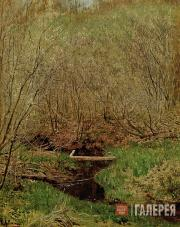 Levitan Isaaс. Springtime in the Forest. 1882