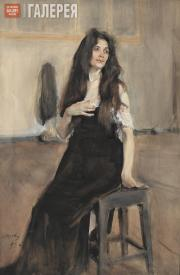 Serov Valentin. A Model with Loose Hair. 1899