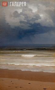 Kuindzhi Arkhip. Breaking Waves on a Rainy Day. 1890s
