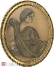 Serov Valentin. Portrait of Henrietta Girshman. 1911