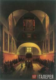 François-Marius GRANET. Interior of the Choir in the Capuchin Church on the Plaz