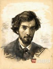 Levitan Isaaс. Self-portrait. 1881-1885