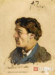 Levitan Isaaс. Portrait of Anton Chekhov. 1885-1886