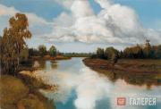 Levitan Isaaс. Landscape with a River