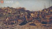 Konstantin SAVITSKY. Repair Works on the Railway. 1874