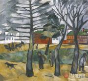 Goncharova Natalia. Autumn landscape. 1909–1910