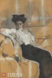 Serov Valentin. Portrait of Henrietta Girshman. 1904