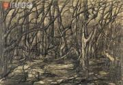 """Levina-Rozengolts Eva. From the cycle """"Trees"""". Sheet 2. 1956-1957"""