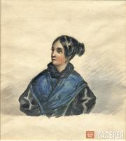 Lermontov Mikhail. Portrait of Varvara Lopukhina. 1835-1838 (?)
