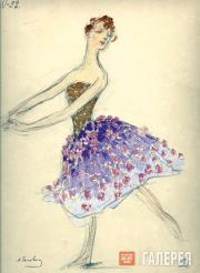 "Golovin Alexander, Telyakovskaya Gurly. Female costume design for ""Ruslan and Ly"