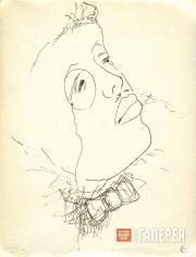 Larionov Mikhail. Portrait of Sergei Diaghilev. 1920s