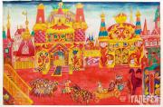 """Goncharova Natalia. Stage design for Act 3 of """"Le Coq d'Or"""" (The Golden Cockerel"""