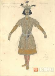 "Golovin Alexander. Male costume design for the dance ""Lezghinka"""