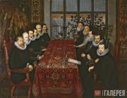 Unknown artist. The Somerset House Conference, 1604. 1604