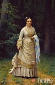 Kramskoi Ivan. Portrait of Vera Tretyakova. 1876