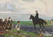 Plastov Arkady. Leo Tolstoy Meeting Blind Men. 1953-1954