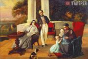 Yevgraf SOROKIN. Family Portrait. 1844