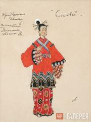 "Golovin Alexander. Costume design for the Court Ladies II, ""The Nightingale"". 19"
