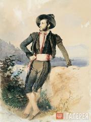 Sternberg Vasily. Aivazovsky in Toreador Costume. 1843