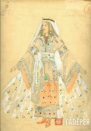 Golovin Alexander. Lyudmila's costume design. Act 3