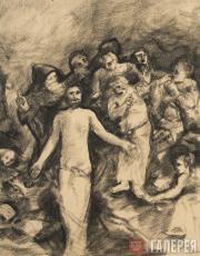 """Chekrygin Vasily. Fragment of the fresco """"Restoring the Dead to Life"""". 1921–1922"""
