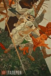 Anastasia Sokolova, Valeri Chernoritsky. Battle of Grunwald. 1991