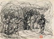 """Levina-Rozengolts Eva. From the cycle """"People (Rembrandt series)"""". Sheet 24. 195"""