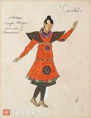 "Golovin Alexander. Costume design for the Young Japanese Servants, ""The Nighting"