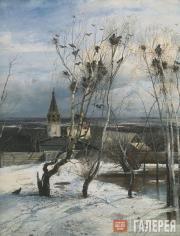 Savrasov Alexei. The Rooks Have Arrived. 1871