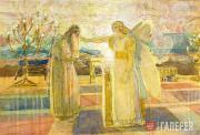Ivanov Alexander. Archangel Gabriel Renders Zechariah Dimb. Late 1840s-1850s