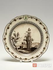 "Josiah Wedgwood's workshop. Side plate. Item from ""The Green Frog Service"". Engl"