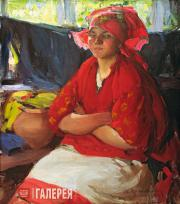 Arkhipov Abram. A Girl in Red. 1916