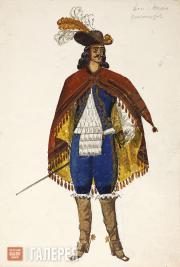 Shukhaev Vasily. Sketch of the costume design for Don Juan for «The Stone Guest»