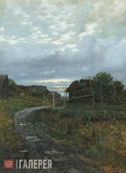Levitan Isaaс. Autumn. Village Road. 1870s