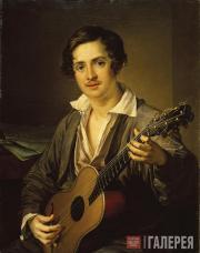 Tropinin Vasily. The Guitarist. 1832